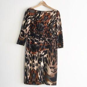 Jessica Simpson Animal Print Dress size 10